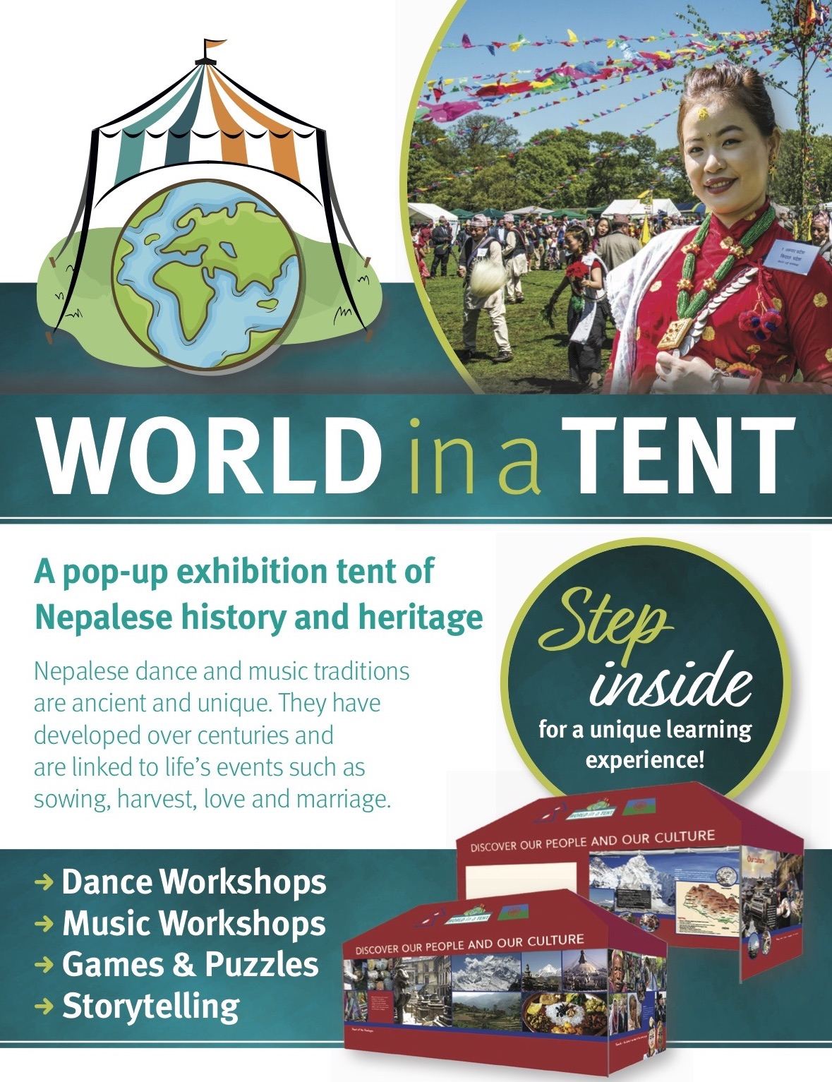World in a Tent Exhibition @ Cheriton Library